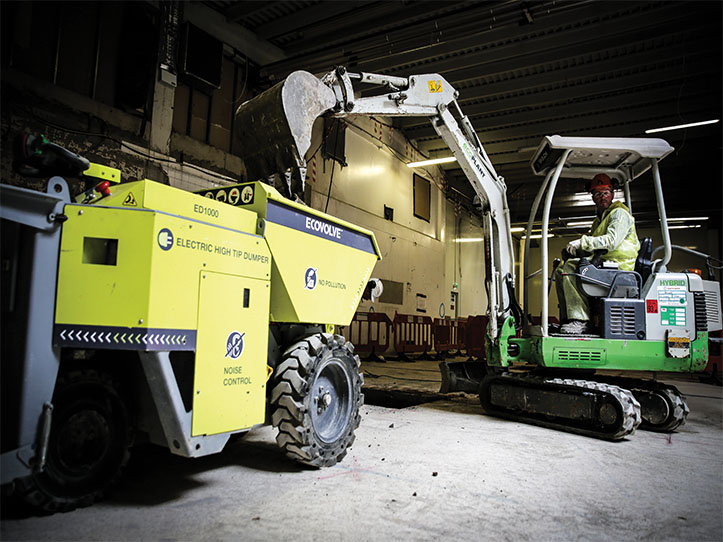 Hybrid Electric Digger and Ecovolve ED1000