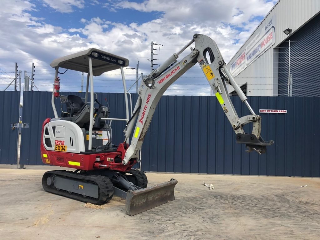 1.9 Ton Takeuchi TB216 Hybrid Electric Digger with Grapple