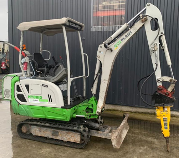 1.9 Ton Electric Digger with Breaker